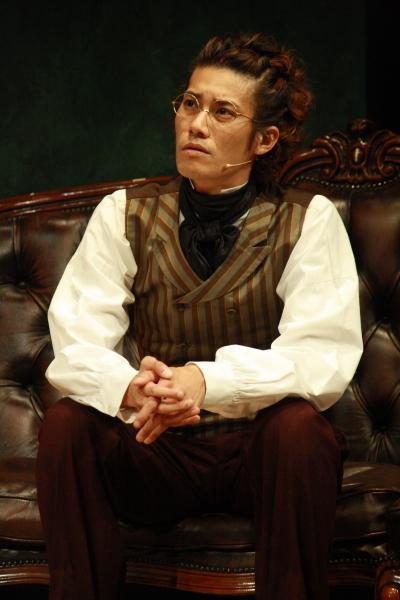 ベートーヴェンの友人を自称する音楽家・シューベルト役の林剛史さん