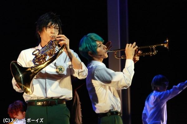 吹奏楽部とブラスバンド部が激突! 音楽劇『金色のコルダBlue♪Sky』、至誠館を舞台にしたスピンオフ開幕