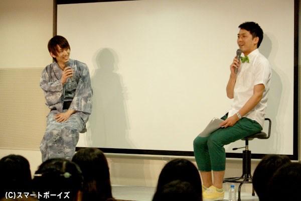 せとたけおさんとの楽しいトークで会場を盛り上げる和田雅成さん
