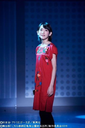 オリジナルキャラクターのサキ役で舞台に華を添える、生駒里奈さん