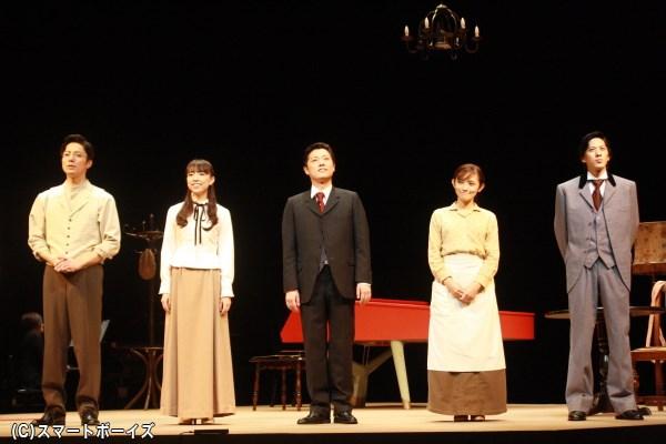 (左から)和田琢磨さん、愛加あゆさん、原田優一さん、星野真里さん、白又敦さん
