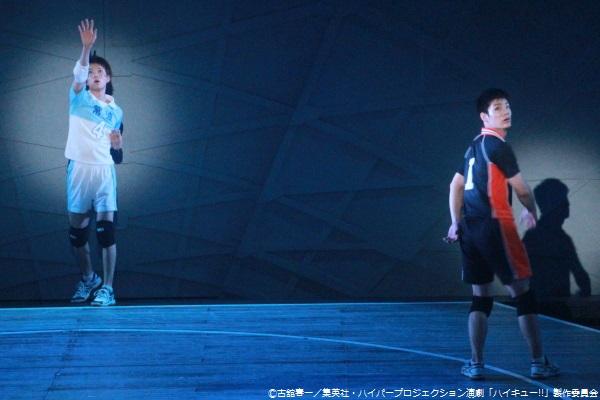 インターハイ初戦で対戦する烏野高校・澤村大地(秋沢健太朗さん・右)と常波高校・池尻隼人(松田裕さん・左)は、中学時代の同級生