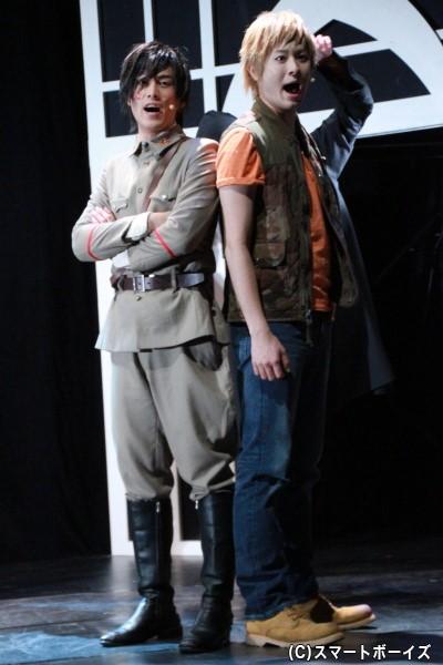 初演に続き出演する前内さんと畠山さん。今作では明るく場を盛り上げてくれます