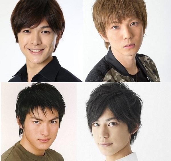 (左上から時計回りに)遊馬晃祐さん、安里勇哉さん、阿部快征さん、脇崎智史さん