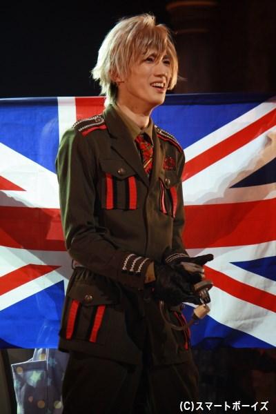 廣瀬さん演じるイギリスは、ロックな精神と眉毛が特徴!