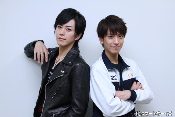 (右)仁科譽役の黒羽麻璃央さん (左)川崎亮也役の廣瀬智紀さん