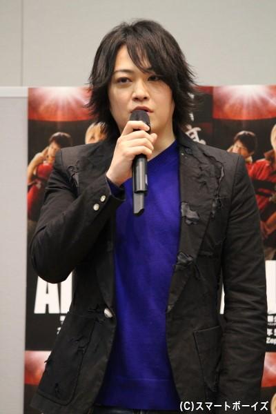 """江文優役の宮下雄也さん。「やんちゃな男の子で""""美人が好き""""という点は自分と共通するところです!」"""