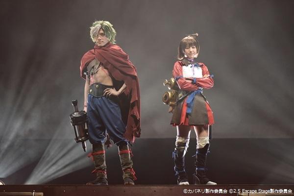生駒役の伊崎龍次郎さん(左)と 無名役の高橋紗妃さん(左)
