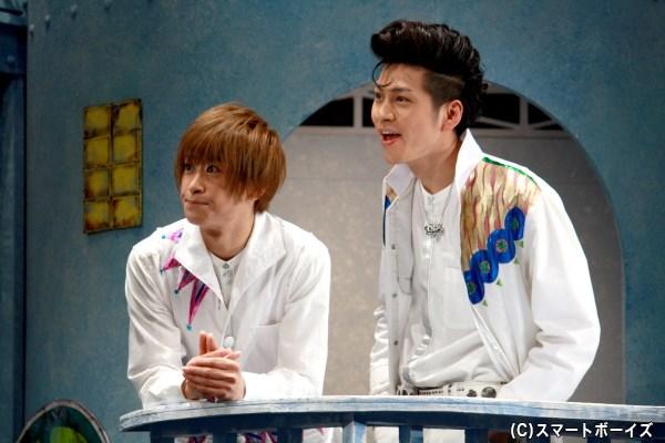(左から)スターの親友・ライト役の赤澤燈さん、荒くれ者だけど実は誰よりも優しいビーム役の井澤勇貴さん