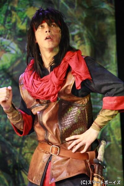 パーンと行動を共にする盗賊ウッド・チャック役の汐崎アイルさん