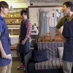 第1話シーンカットより(左から)遊馬晃祐さん、山本一慶さん、上田悠介さん