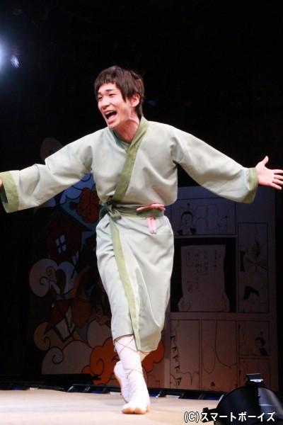 松尾芭蕉役の阿部丈二さん