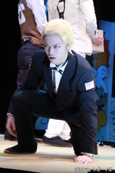 鬼男を演じる石渡真修さんは、ハリスとの二役に挑戦