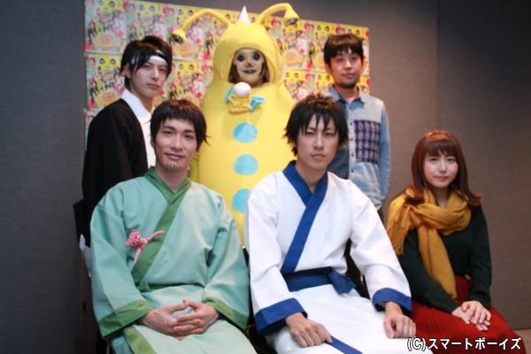 (左前列より)阿部丈二さん、小笠原健さん、大場美奈さん (左後列より)米原幸佑さん、宮下雄也さん、なるせゆうせいさん