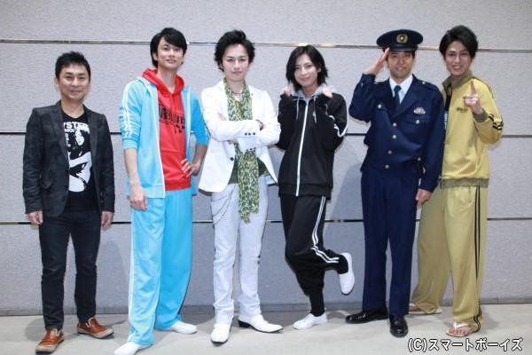 (左より)きだつよしさん、馬場良馬さん、鈴木勝吾さん、斉藤秀翼さん、金城大和さん、丸山敦史さん