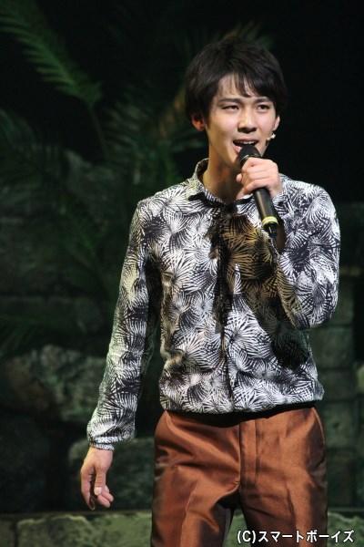 佐久間雄生さん。ダイナミックなダンスはもちろん、歌声でも観客を魅了♡