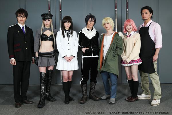 (左から)和田琢磨さん、安藤彩華さん、長谷川かすみさん、鈴木拡樹さん、植田圭輔さん、糸原美波さん、友常勇気さん