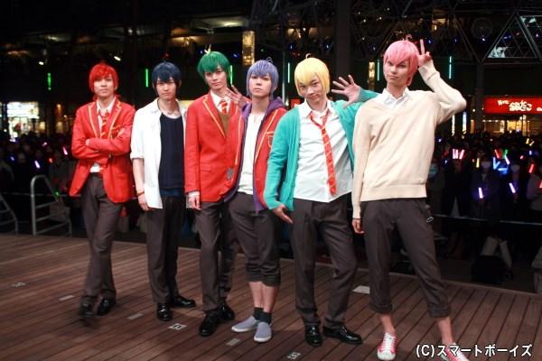 (左から)F6キャストの井澤勇貴さん、和田雅成さん、小野健斗さん、安里勇哉さん、和合真一さん、中山優貴さん