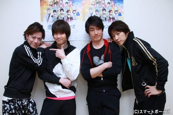 (左より)加藤真央さん、碕理人さん、津田英佑さん、小笠原健さん