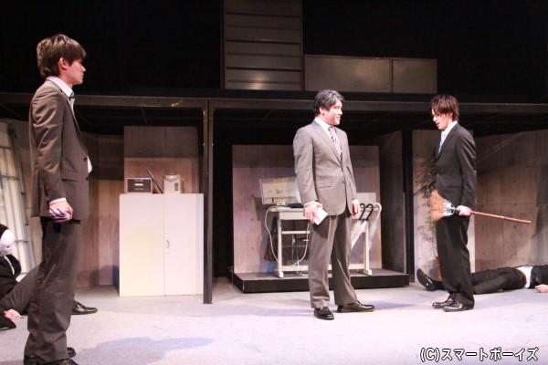 新人研修でルールを守らなかった伊崎と北里はアフターサービス課に配属