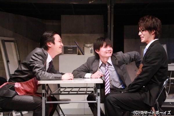 課長の升田は、新人2人を快く迎える