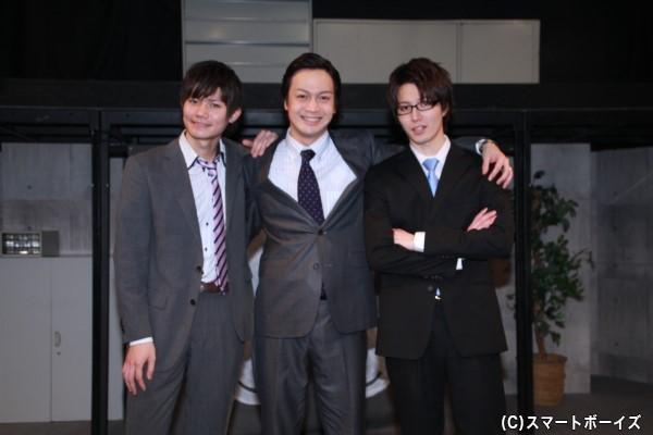 (左より)薫太さん、海老澤健次さん、松田裕さん