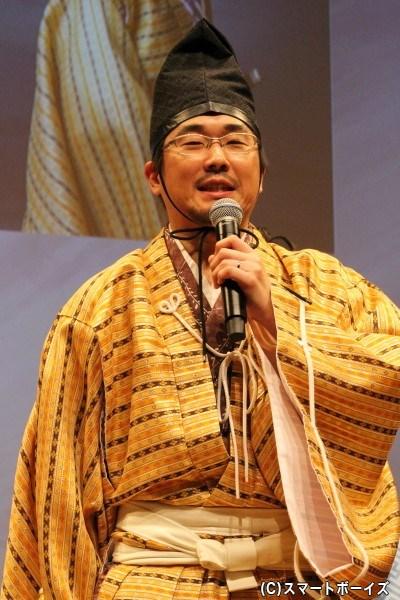 三好長慶 役の山崎樹範さん