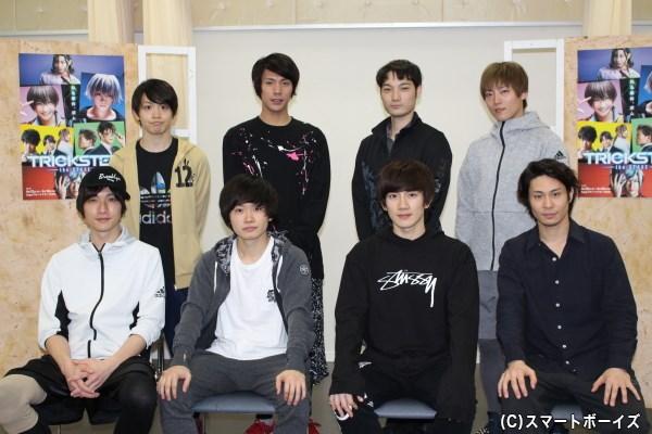 (前列左から)細貝圭さん、鳥越裕貴さん、赤澤遼太郎さん、鯨井康介さん(後列左から)輝山立さん、古谷大和さん、斎藤准一郎さん、山口大地さん