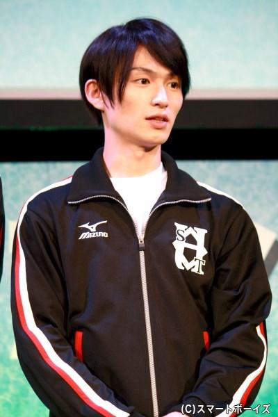 東ヶ丘高校水泳部を率いる、主人公・榊秀平役の松田凌さん