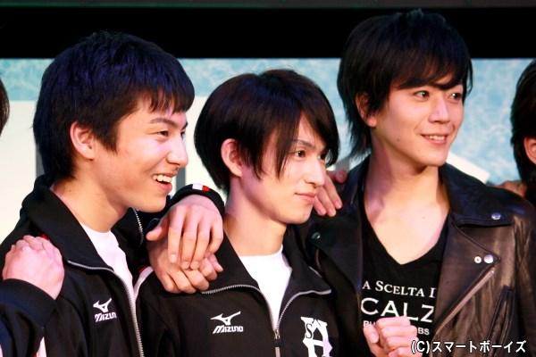 (左から)宮崎秋人さん、松田凌さん、廣瀬智紀さん