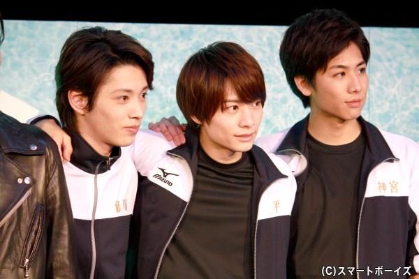 (左から)安西慎太郎さん、小澤廉さん、池岡亮介さん