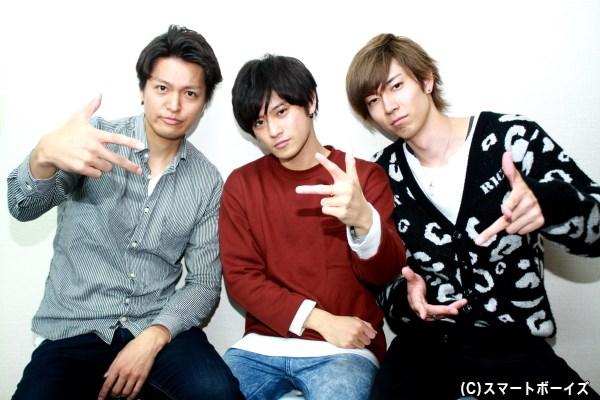 (写真左から)長濱 慎さん、原嶋元久さん、鮎川太陽さん