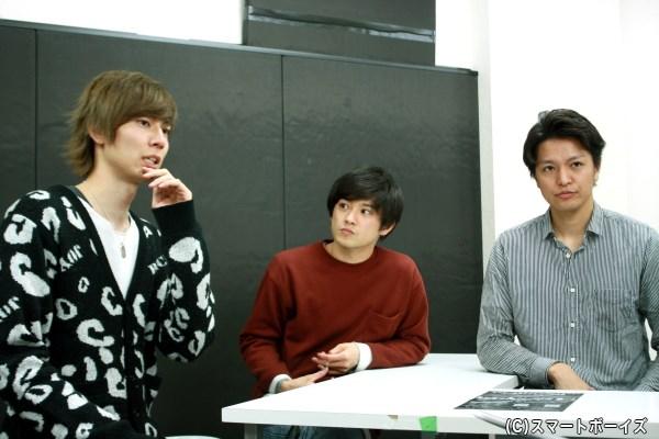 (写真左から)鮎川太陽さん、原嶋元久さん、長濱 慎さん
