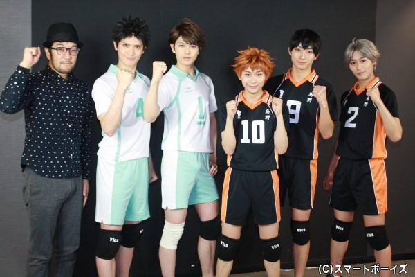 (左から)ウォーリー木下さん、小波津亜廉さん、遊馬晃祐さん、須賀健太さん、木村達成さん、猪野広樹さん