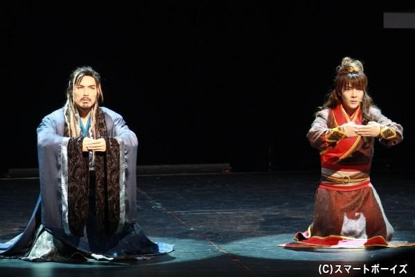 項羽と劉邦は互いに虞との関係を知らないまま、義兄弟の契りを交わす