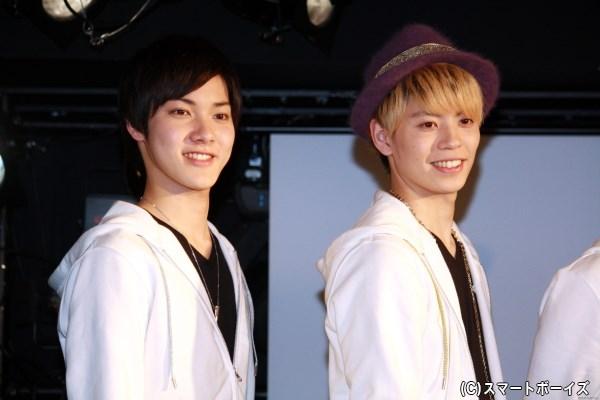 (左から)丸山武蔵役の桐矢彰吏さん、写楽佑太役の古川龍慶さん