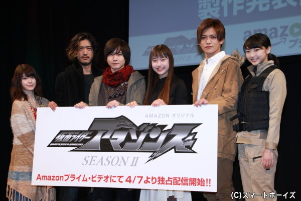 (左より)東亜優さん、谷口賢志さん、前嶋曜さん、白本彩奈さん、藤田富さん、武田玲奈さん