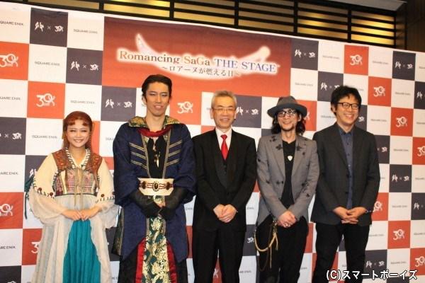 (写真左より) 新垣里沙さん、清水順二さん、河津秋敏さん、とちぼり木さん、市川雅統さん