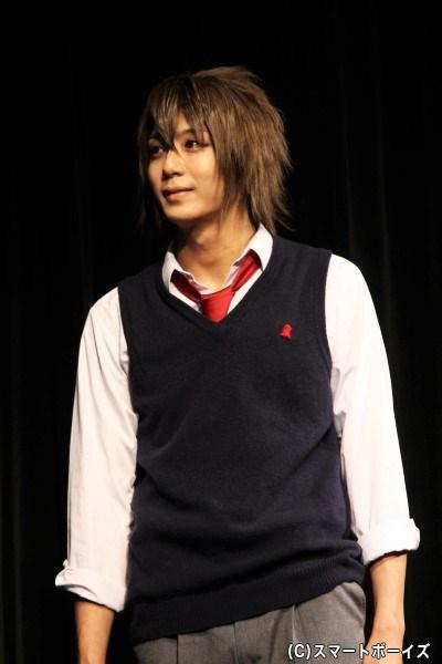 沖田総司役の中尾拳也さん。近藤学園長を慕うあまり土方教頭に反発する難しい役どころを熱演