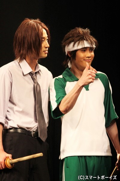 原田左之助役の浜田陽平さん(写真左)と永倉新八役の碕理人さん(右)