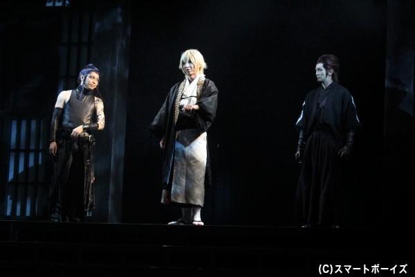 鬼の一族・風間千景(写真中央)、天霧九寿(右)、不知火匡(左)