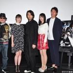 (左から)雨宮慶太総監督、松山メアリさん、藤田玲さん、青島心さん、弓削智久さん
