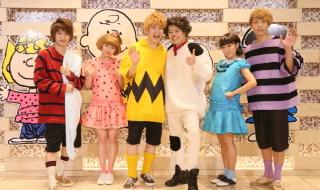 (左から)古田一紀さん、田野優花さん、村井良大さん、中川晃教さん、高垣彩陽さん、東山光明さん