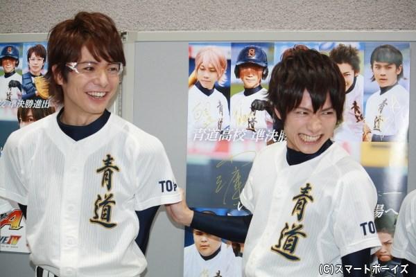 和田さんにハメられた(!?)小澤さん、この表情には取材陣も大笑い!