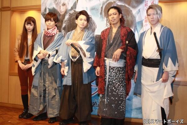 (左から)馬場ふみかさん、岩岡徹さん、花村想太さん、松本利夫さん、早乙女友貴さん