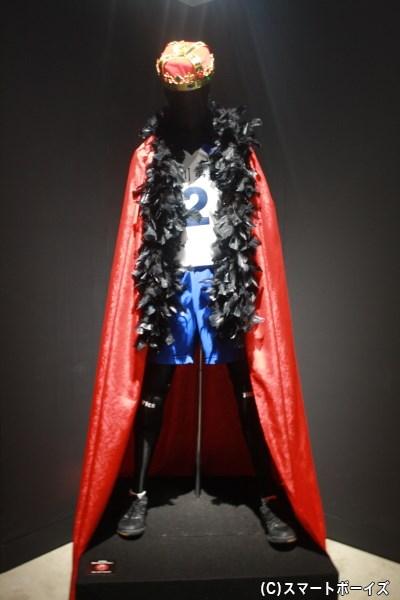 烏野コーナーでは、影山の王様コスチュームの展示が!