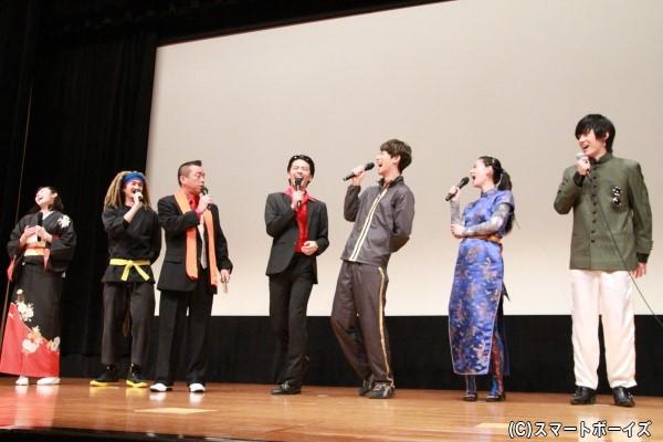 たい平さんの笑点メンバーへの毒舌(?)トークにジュウオウジャーメンバーは皆大笑い!