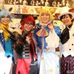 (写真左より) チタン役の糸川耀士郎さん、クロウ役の米原幸佑さん、シュウ☆ゾー役の鎌苅健太さん、MC:Kimeruさん