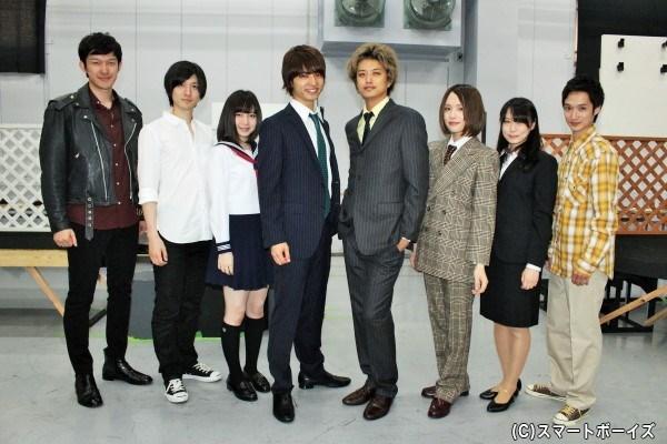 (写真左より)伊藤陽佑さん、山本一慶さん、岩田華怜さん、中村優一さん、井上正大さん、星元裕月さん、藤木かおるさん、宮崎翔太さん