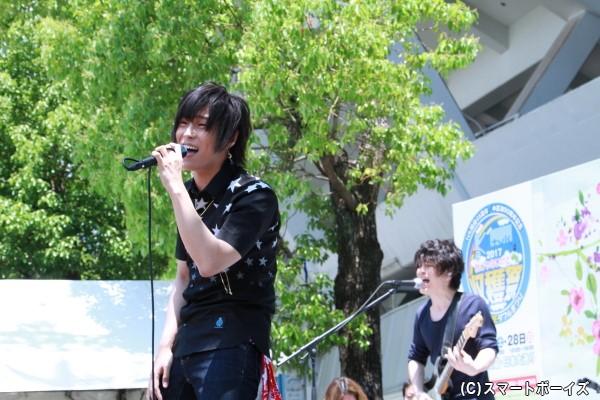 天月-あまつき-さんのライブでは、テーマソング「未来の星命」など計3曲を披露!